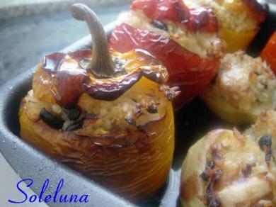 peperoni, patate, riso olive, formaggio, cipolle, cucina